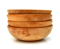 Wooden bowls Stock Photos