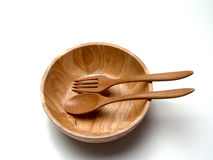 Wooden bowls Stock Image