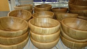 Wooden bowls Stock Photo