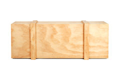 Wooden box. Isolated import export royalty free stock photography