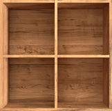 Wooden box. With four compartments Royalty Free Stock Photos
