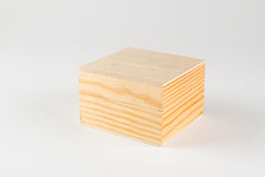 Wooden box. On white Royalty Free Stock Images