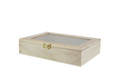 Wooden box. For the items Royalty Free Stock Photography