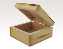 Wooden box. Isolated wooden box, ideally for souvenirs Stock Photography