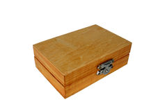 Wooden box. Close-up of wooden box royalty free stock photography