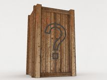 Wooden box. With a surprise Royalty Free Illustration