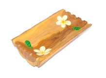 Wooden box for accessories or food. Thai wooden handicraft box for accessories or food made from mango tree Stock Images