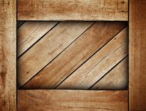 Wooden box background Royalty Free Stock Photos