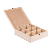 Wooden box for billiard balls. Stock Image