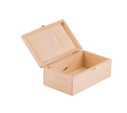 Wooden box for billiard balls. Stock Photo