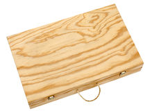 Wooden box for bottles of wine. Stock Photo