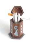 Wooden box cigarette Royalty Free Stock Photography