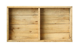 Wooden box. (with clipping path)  on white background Stock Photo