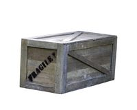 Wooden box container Stock Photo