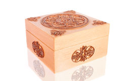 Wooden Box Decorated with Wire Stock Images