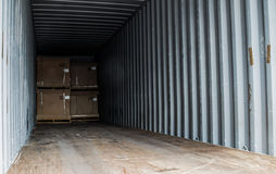 Wooden box export pallet shipping container Royalty Free Stock Photo