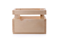 Wooden box for flowers isolated over white with clipping path Stock Images