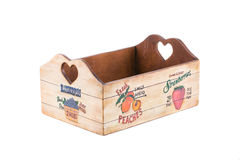 Wooden box for fruits. Royalty Free Stock Photo