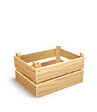 Wooden box for fruits and vegetables keeping Stock Photo