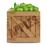 Wooden box full of apples Royalty Free Stock Photo