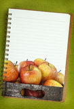 Wooden box full of apples Royalty Free Stock Image