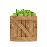Wooden box full of apples Stock Photography