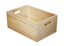 Wooden Box with Handles Royalty Free Stock Images