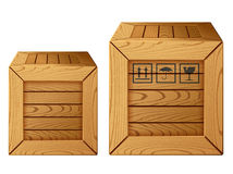 Wooden box icon Stock Photos