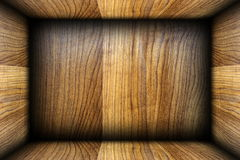 Wooden box interior Royalty Free Stock Images