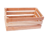 Wooden box isolated Stock Photo
