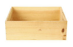 Wooden box isolated Royalty Free Stock Images