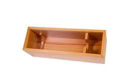 Wooden box isolated on a white Stock Photo