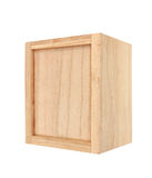 Wooden box isolated on white Royalty Free Stock Photo