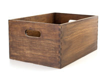 Wooden box isolated on white Stock Image