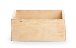 Wooden box, isolated on white background Stock Photo