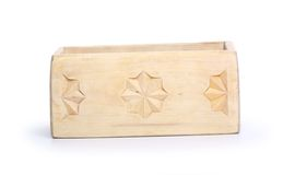 Wooden box, isolated on white background Royalty Free Stock Image