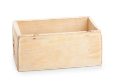 Wooden box, isolated on white background Stock Photography