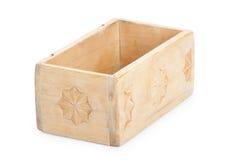 Wooden box, isolated on white background Stock Image