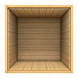 Wooden box isolated on white background vector illustration