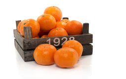 Wooden box with mandarine Royalty Free Stock Images