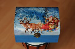 Wooden box,Napkins Decoupage Box Stock Photo