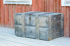 Wooden box outside house Royalty Free Stock Images