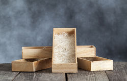 Wooden box are overlap Royalty Free Stock Photo