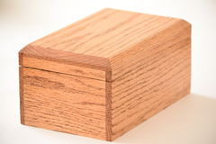 Wooden box. Rectangular wooden box isolated with a white background Royalty Free Stock Image