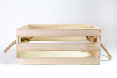 Wooden Box With Rope Handle stock image