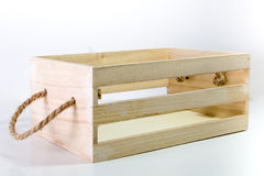 Wooden Box With Rope Handle stock photography