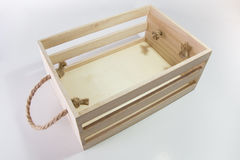 Wooden Box With Rope Handle royalty free stock photography