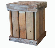 Wooden box. For the storage Stock Photos