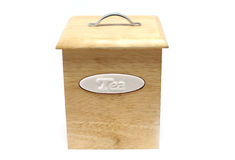 Wooden Box for Tea. Isolated Royalty Free Stock Photo
