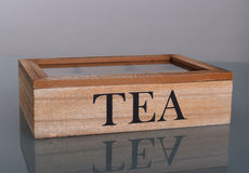 Wooden box for tea Royalty Free Stock Images